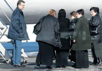 Georgiska kvinnor avvisas från Finland