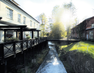 The river at Fiskars, which once powered mills that provided energy for the village's industry.