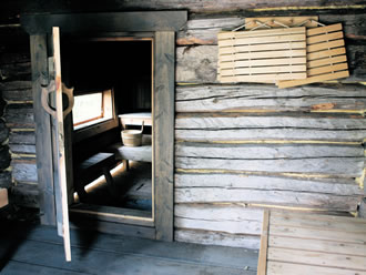 A traditional smoke sauna, as used by generations of Finns.