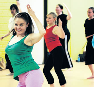 Group activities, such as Bollywood dance, are a fun and effective way to get fit.