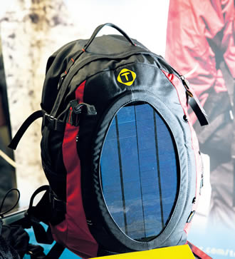 High efficiency solar system backpacks created by Tespack.