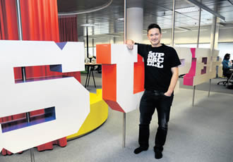 Supercell's CEO Ilkka Paananen in the headquarters of the company in Helsinki on 16 October.