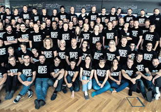 This group photo of Supercell employees was taken before they knew about their upcoming fortune. They are mostly shareholders of the company.