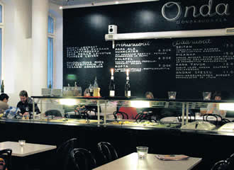 With generous space, Onda is not only a restaurant, but an art gallery as well as a music hall.