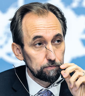 UN High Commissioner for Human Rights, Zeid Ra'ad Al Hussein notes that few countries will admit their state apparatus has been practising torture, even when the scars are all too visible on the victims who manage to escape.