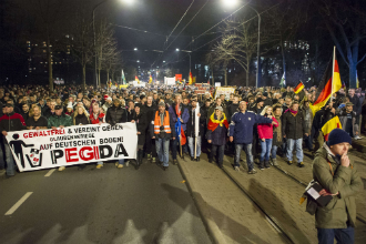 Supporters of the PEGIDA movement,