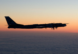 One of the Russian aircraft detected over the Baltic Sea in recent days is a Tupolev Tu-95 bomber.