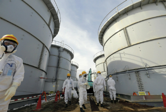 "The ""H4"" tank group at the Fukushima power plant where 300 tonnes of contaminated water leaked last summer."