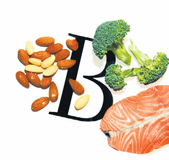 Vitamin B can be found in fish, meat, milk, yeasts, whole grains, peanuts and seeds.