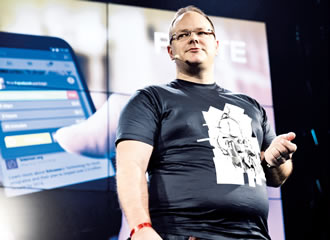 Markku Mäkeläinen (director, Global Operator Partnerships at Facebook) speaks during Slush 2014 in November last year.
