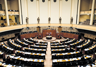 The parliament will see a reshuffling of members in the upcoming elections in April.