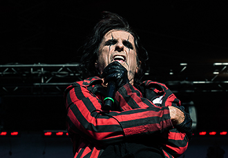 Legendary Alice Cooper performed as the last act of the festival and delivered a true rock show.