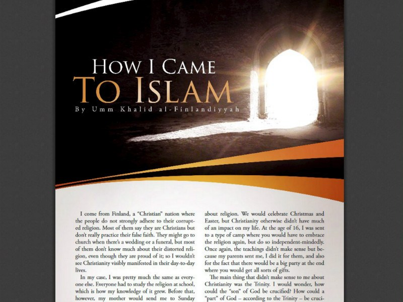 A screen capture of the propaganda magazine distributed by Isis in which a woman describes her experiences of moving from Finland to the self-proclaimed caliphate of Isis.