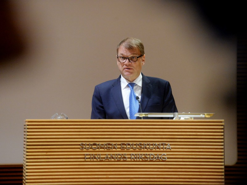 Prime Minister Juha Sipilä (Centre) spoke at the Annual Meeting of Heads of Missions in Helsinki on 22 August, 2016.