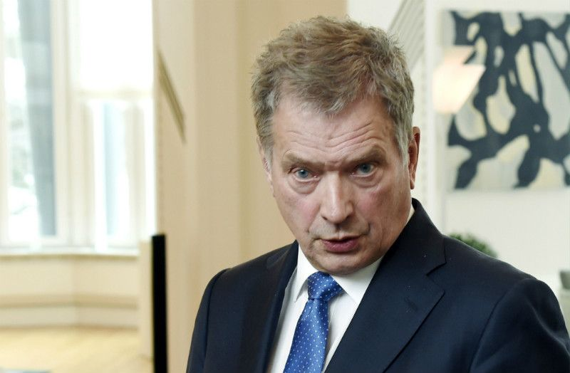 President Sauli Niinistö commented on a number of topical foreign and security policy issues at a news conference in his official residence, Mäntyniemi, on 24 February, 2016.