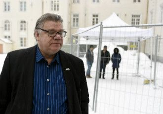 Minister for Foreign Affairs Timo Soini (PS) was pictured visiting the Tornio Reception Centre in Lapland on 24 January, 2016.