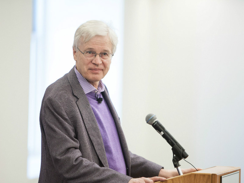 Bengt Holmström, a professor of economics at Massachusetts Institute of Technology (MIT), spoke to members of the media at MIT on 10 October, 2016, after winning the Nobel Economics Prize.