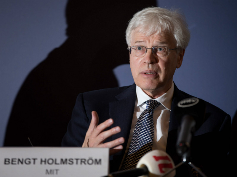 Bengt Holmström, the recipient of the 2016 Nobel Memorial Prize in Economic Sciences, took part in a panel discussion at Finlandia Hall in Helsinki on 10 August, 2017.