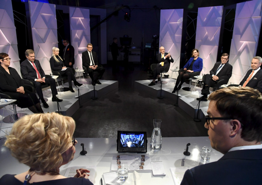 All eight presidential candidates took part in a presidential debate organised by YLE on Thursday, 14 December, 2017.