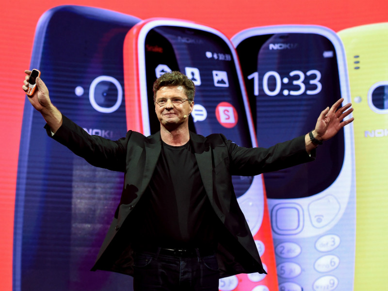 Arto Nummela, the chief executive of HMD Global, unveiled the updated version of the iconic Nokia 3310 on the eve of the Mobile Phone Congress in Barcelona on 26 February.