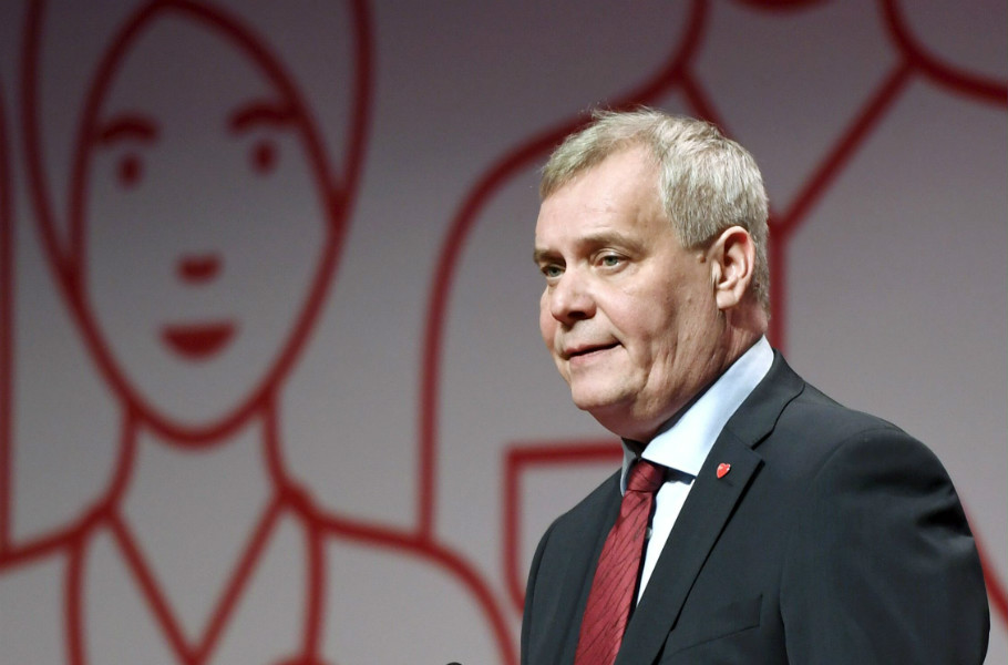 Antti Rinne was re-elected for his second term as the chairperson of the Social Democrats in Lahti on 3 February, 2017.