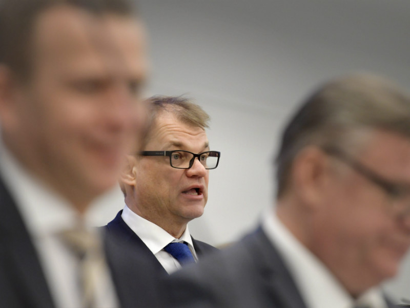 Prime Minister Juha Sipilä (Centre) addressed Members of the Parliament on Wednesday 8 February, 2017.