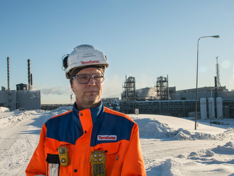 Jukka Vetola, the chief shop steward at Terrafame's nickel and zinc mine in Sotkamo, Finland,, was pictured at the mine on 10 February, 2017. The mine will continue ramping up its operations after securing financing from Trafigura, a Swiss-based commodity trader.