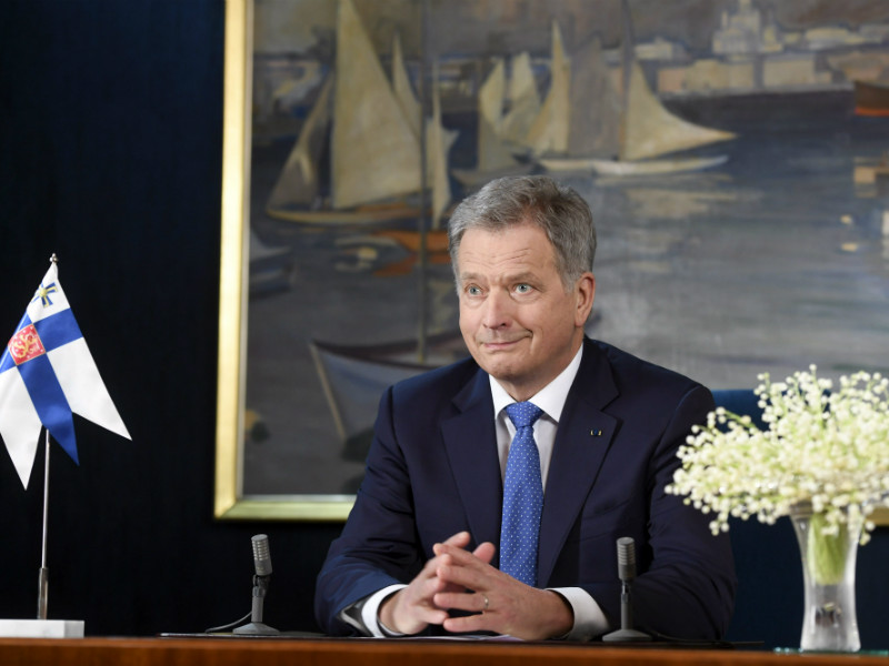 President Sauli Niinistö recorded his traditional New Year's Speech at the Presidential Palace in Helsinki on 30 December, 2016.
