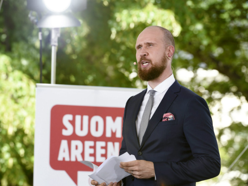 Touko Aalto, the chairperson of the Green League, spoke at Suomi Areena, a debate event held annually in Pori, on 12 July, 2017.