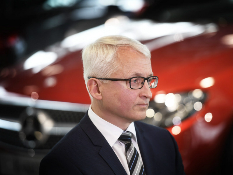 Ilpo Korhonen, the chief executive of Valmet Automotive, announced a new manufacturing deal with Mercedes-Benz in a press conference in Uusikaupunki on Wednesday, 22 March, 2017.