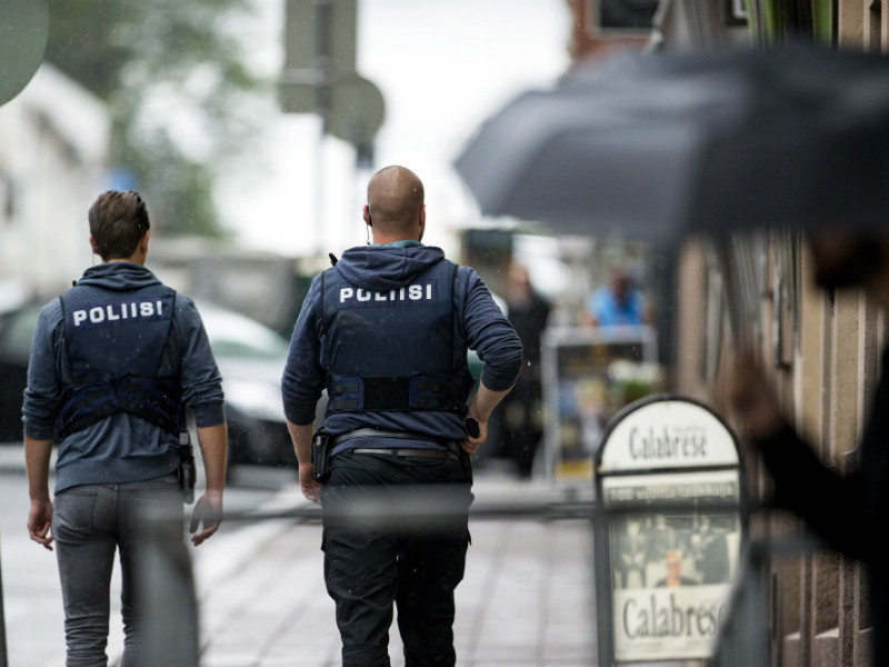 Armed police officers patrolled the streets of Turku on Friday, 18 August, after a stabbing spree that left two dead and eight injured and that is believed to have been the first jihadist terror attack in Finland.