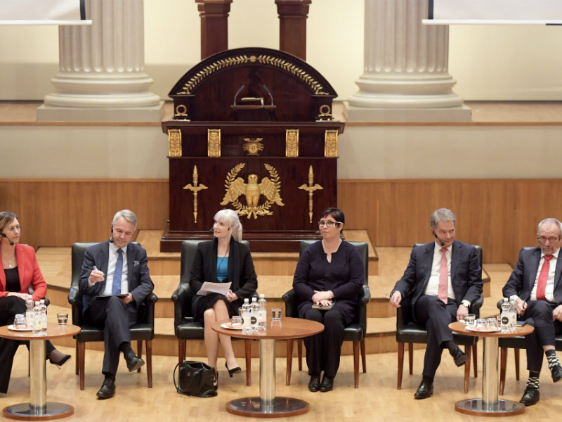 Six of the seven candidates vying for the presidency of Finland took part in a presidential debate organised at the University of Helsinki on Monday, 13 November, 2017.