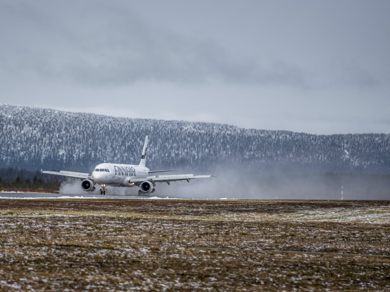 A Finnair aircraft touched down at Kittilä Airport on 19 October, 2017. The state-owned carrier says it will increase services to Lapland by over 20 per cent for the upcoming winter season.