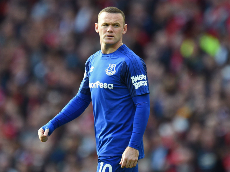 Everton's Wayne Rooney was held scoreless in the first game the team played with the Angry Birds logo on their sleeves.