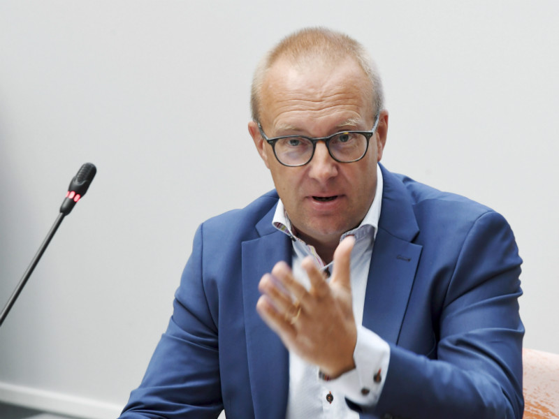 Jarkko Eloranta, the chairperson of the Central Organisation of Finnish Trade Unions (SAK), spoke in a meeting of the central organisation's board of directors in Helsinki on Monday, 13 August 2018.