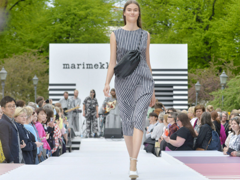 Marimekko celebrated the start of the summer season with its annual fashion show in Helsinki's Esplanade Park on 18 May 2018.