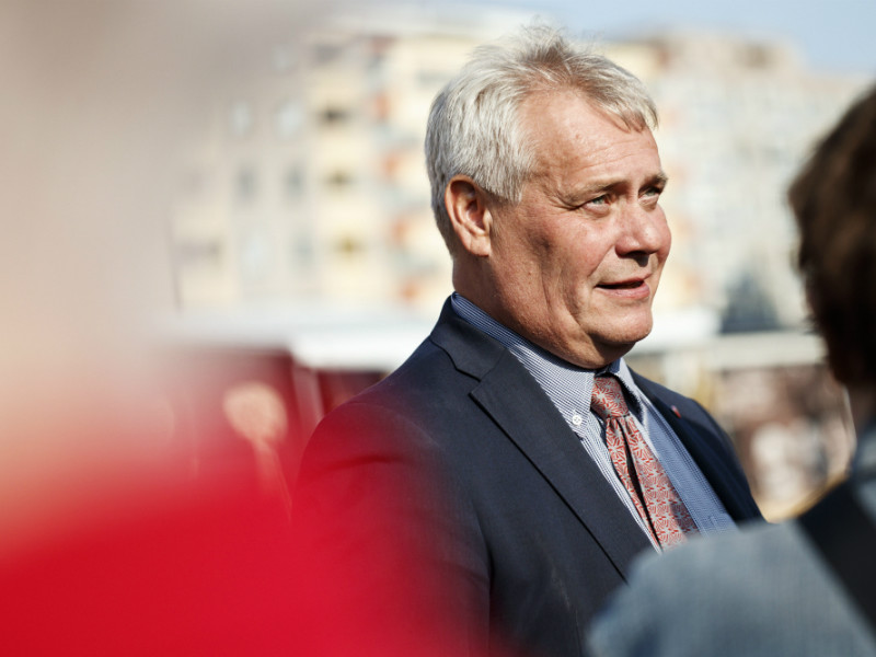 Antti Rinne, the chairperson of the Social Democrats, finds himself the clear frontrunner frontrunner to become the next prime minister of Finland, indicates a poll by Alma Media. (Credit: Roni Rekomaa – Lehtikuva)