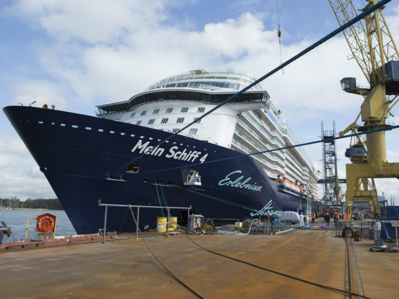 TUI Cruises took delivery of Mein Schiff 4 during a handover ceremony at the Turku Shipyard on 8 May, 2015.