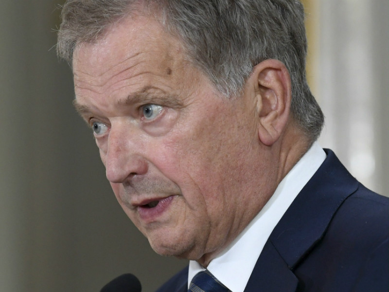 President Sauli Niinistö spoke to the press after a joint news conference between Russian President Vladimir Putin and US President Donald Trump in Helsinki on Monday, 16 July.