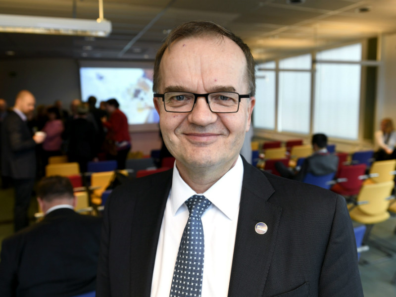 Pekka Soini, the director general of the Finnish Funding Agency for Technology and Innovation (Tekes), was pictured at the opening ceremony of the Watson Health Center in Helsinki on 4 April 2017.
