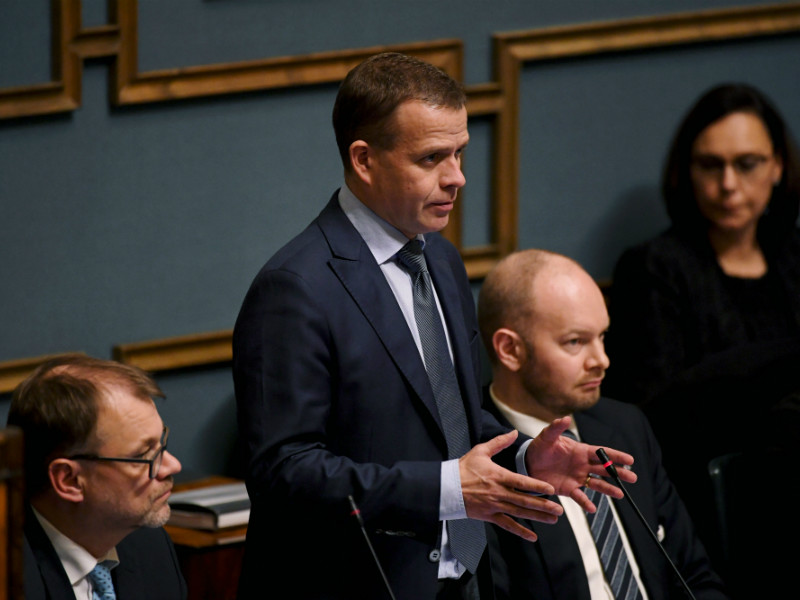 Petteri Orpo (NCP), the Minister of Finance, says the shadow budgets unveiled by opposition parties fail to answer the most pressing question in Finland: how to sustain the current economic and employment growth? (Credit: Antti Aimo-Koivisto – Lehtikuva)
