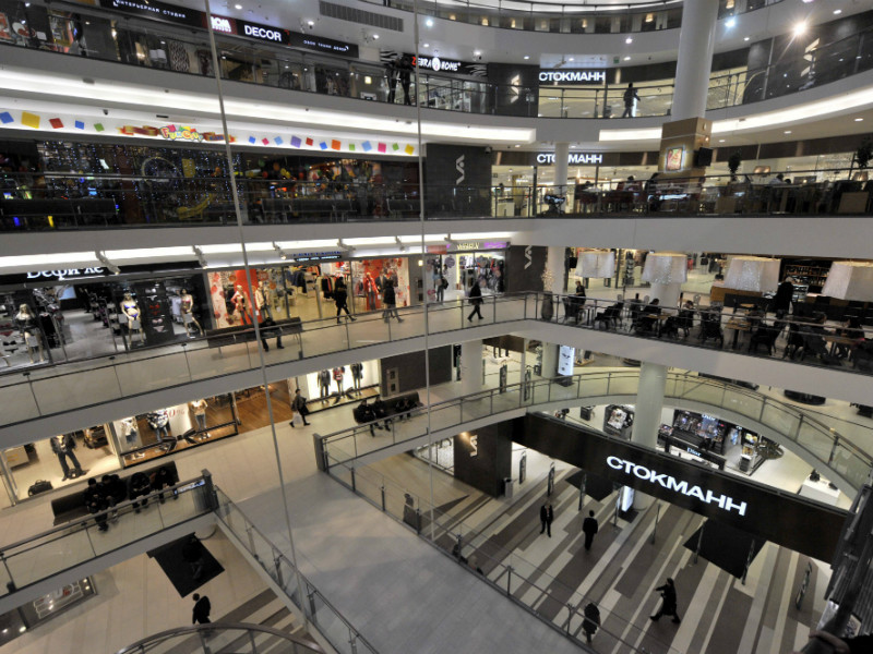 A Stockmann department store and other shops in the Nevsky Centre in St. Petersburg, Russia. Stockmann on Tuesday said it will sell the shopping centre to PPF Real Estate for 171 million euros. (Credit: Markku Ulander – Lehtikuva)