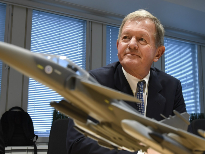 Marcus Wallenberg, the chairman of the board at Saab, spoke at a press conference in Helsinki on Wednesday, 17 January, 2018. The Swedish defence company announced it will expand its operations in Finland.