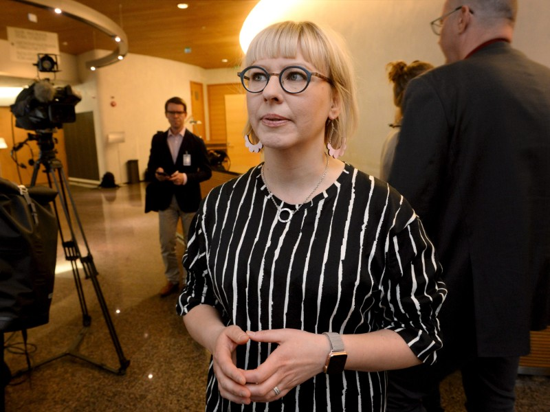 Aino-Kaisa Pekonen (Left Alliance), the Minister of Social Affairs and Health, has assured that the government will deliver on its promise to abolish the activation model for unemployment security. (Mikko Stig – Lehtikuva)