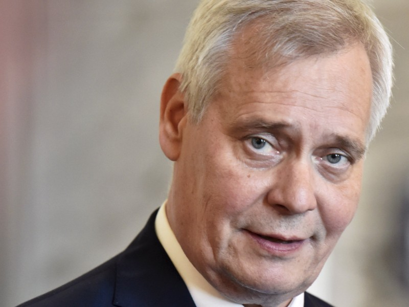 Antti Rinne, the chairperson of the Social Democrats, gave his first press conference as the Prime Minister of Finland in the Parliament House on Thursday, 6 June. (Jussi Nukari – Lehtikuva)