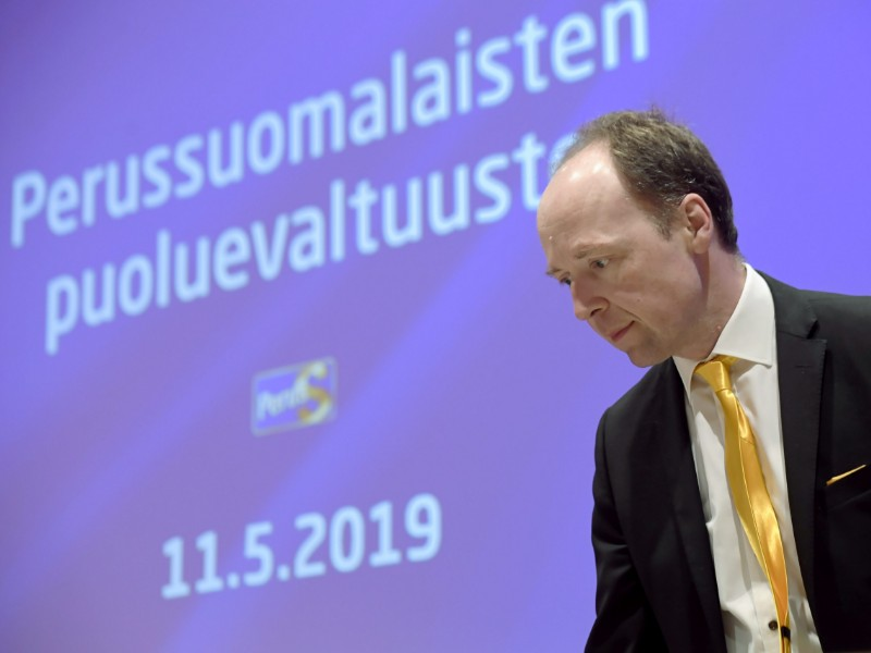 Support for Jussi Halla-aho's Finns Party has spiked in the wake of the parliamentary elections held in Finland in mid-April, shows a poll by Alma Media. (Markku Ulander – Lehtikuva)