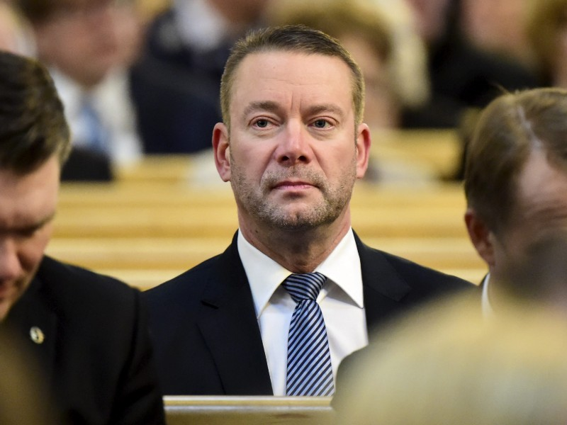 Stefan Wallin (SFP) attended an ecumenical service as part of the closing ceremony of the parliamentary session at Helsinki Cathedral on 10 April 2019. (Vesa Moilanen – Lehtikuva)