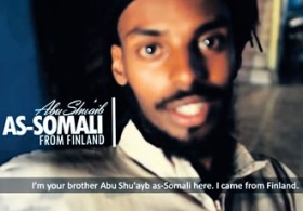 "In early August Abu Shuayb as-Somali, appeared in a propaganda video uploaded to YouTube, urging Finns to join him in ""the caliphate"" of the Islamic State of Iraq and Syria (ISIS)."