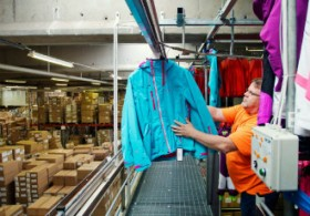 Millions of clothing items pass through the logistics centre of L-Fashion Group in Nastola.