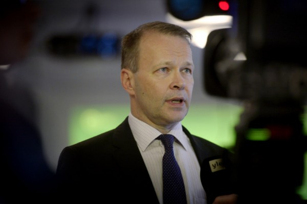 Pekka Koponen, the chief executive of the newly-founded Kaidi Finland, was pictured at a press conference in Finlandia Hall, Helsinki, on 10 February, 2016.